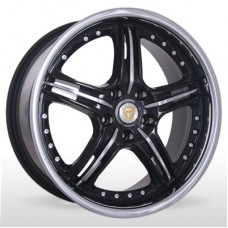 "Диск Hunter 18"" 5*112 8,0 Et45 D66,6 Foose BInoxF+InoxLIP 45mm"