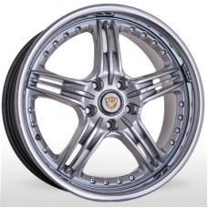 "Диск Hunter 18"" 5*112 8,0 Et45 D66,6 Foose HSInoxF+InoxLIP 45mm"