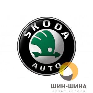 Логотип Skoda black алюм. d56,5 mm