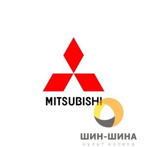 Логотип Mitsubishi red алюм. d56,5 mm
